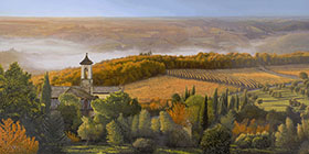 Italian Landscape Oil Painting by Pat Pauley